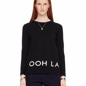 Kate Spade Broome Street Black Ooh La La Sweater